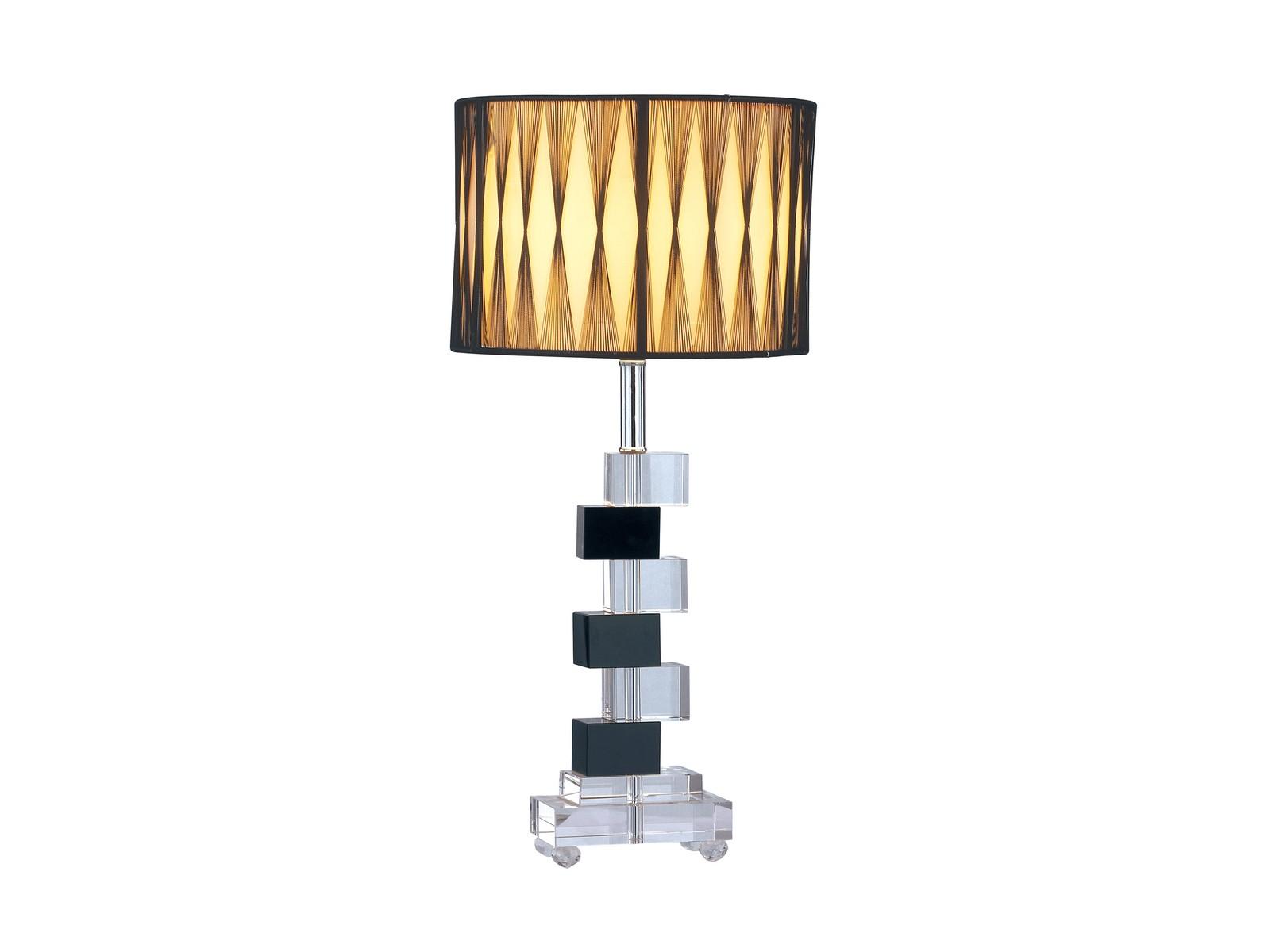 Настольная лампа LatticaДекоративные лампы<br>В оригинальной настольной лампе Lattica роскошные материалы прекрасно сочетаются с изысканной формой изделия. Изящный тканевый абажур создает теплый рассеянный свет. Геометрические формы, чередование прозрачного и чёрного хрусталя придают изделию особый, неповторимый стиль.&amp;lt;div&amp;gt;&amp;lt;br&amp;gt;&amp;lt;/div&amp;gt;&amp;lt;div&amp;gt;Вид цоколя: Е27&amp;lt;/div&amp;gt;&amp;lt;div&amp;gt;Мощность лампы: 40W&amp;lt;/div&amp;gt;&amp;lt;div&amp;gt;Количество ламп: 1&amp;lt;/div&amp;gt;&amp;lt;div&amp;gt;Наличие ламп: нет&amp;lt;/div&amp;gt;<br><br>Material: Текстиль<br>Height см: 50<br>Diameter см: 23