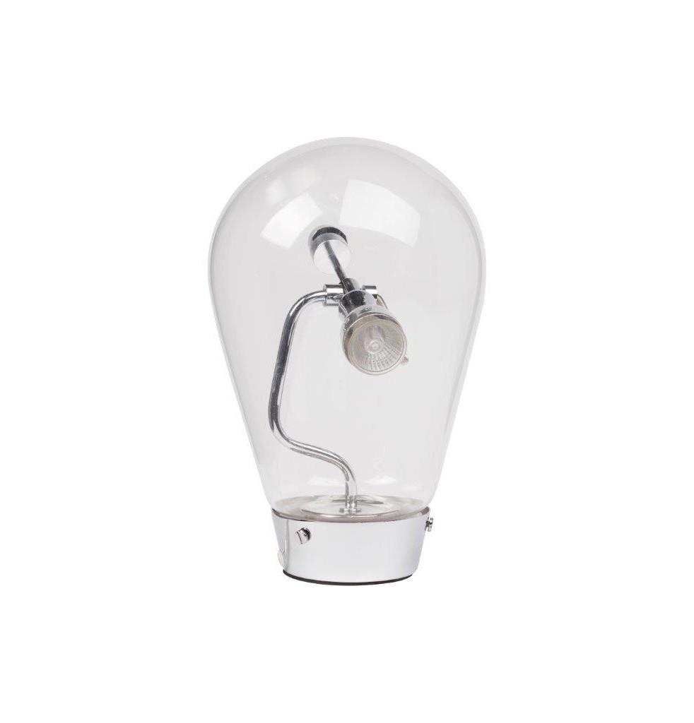 Напольный светильник Danke GrandeТоршеры<br>Оригинальная и стильная настольная лампа Danke Grande, сделанная в виде лампы накаливания, выглядит очень эффектно и придает интерьеру особое очарование. Стеклянный плафон создает направленное свечение вниз. Необычный дизайн позволит лампе элегантно подчеркнуть любой современный стиль интерьера. Необычная форма светильника Danke, выполненного из алюминия и стекла, неизменно привлекает внимание, несмотря на кажущуюся простоту. Предназначен для использования со светодиодными лампами.&amp;lt;div&amp;gt;&amp;lt;br&amp;gt;&amp;lt;/div&amp;gt;&amp;lt;div&amp;gt;&amp;lt;div&amp;gt;Вид цоколя:MR11&amp;lt;/div&amp;gt;&amp;lt;div&amp;gt;Мощность лампы:40W&amp;lt;/div&amp;gt;&amp;lt;div&amp;gt;Количество ламп:1&amp;lt;/div&amp;gt;&amp;lt;/div&amp;gt;<br><br>Material: Стекло<br>Height см: 80<br>Diameter см: 20