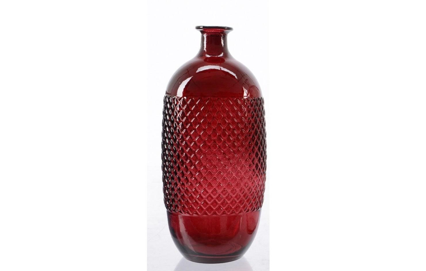 Ваза-бутыль рифлёная