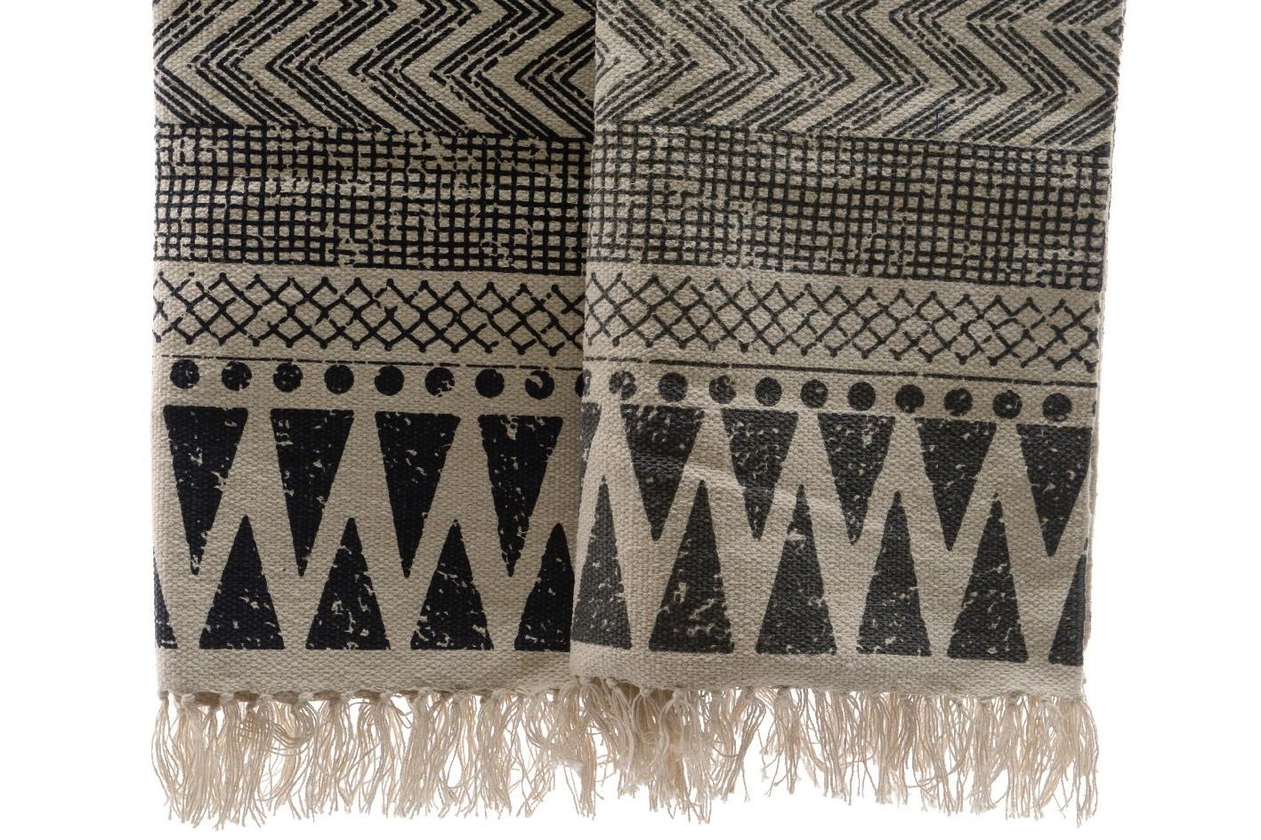 Хлопковый ковёр с узоромПрямоугольные ковры<br>Ручная работа, узор может немного отличаться от представленного на картинке.<br><br>Material: Хлопок<br>Length см: 200<br>Width см: 70<br>Height см: 3<br>Diameter см: None