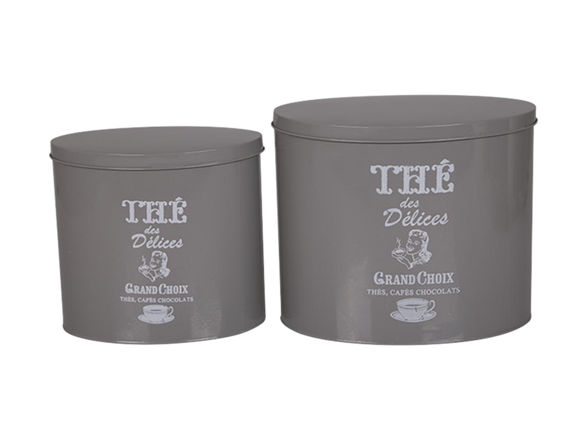 Комплект из двух банок для хранения бисквитовЕмкости для хранения<br><br><br>Material: Металл<br>Width см: 21<br>Depth см: 16<br>Height см: 24