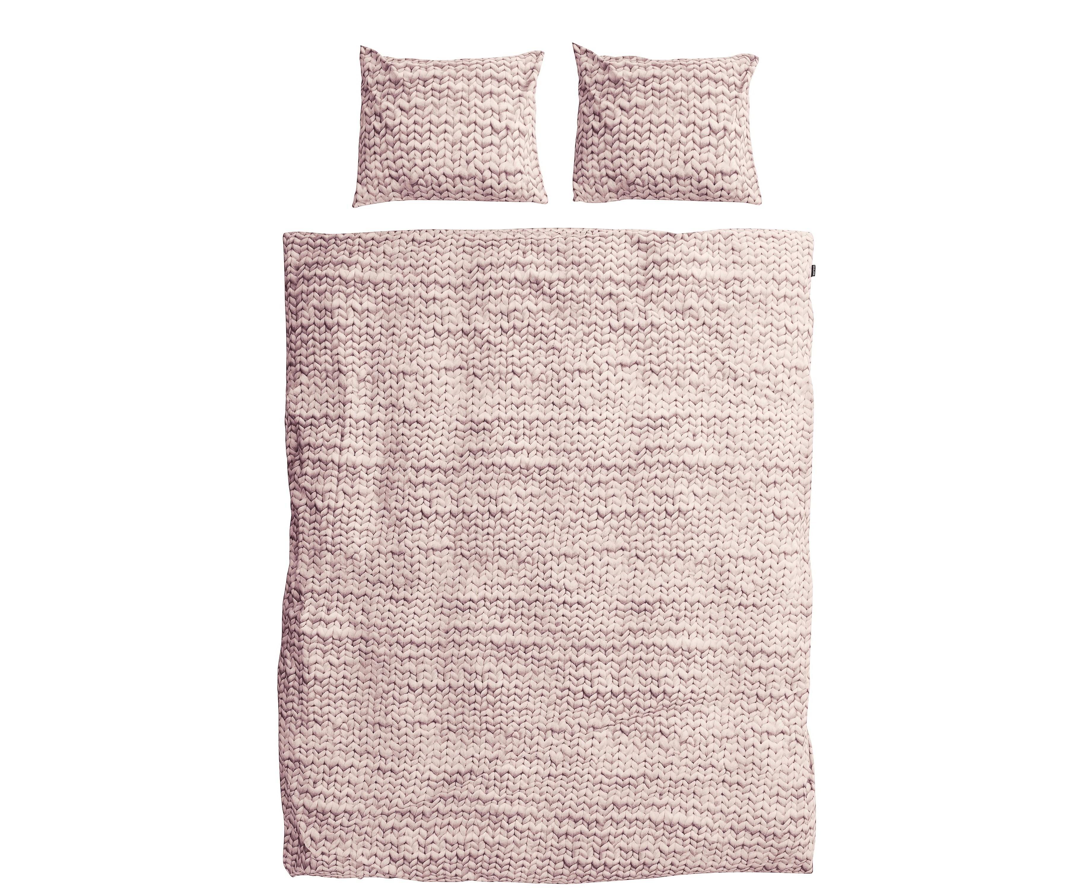 Комплект постельного белья Косичка розовыйДвуспальные комплекты постельного белья<br>Этот мягкий узор связан очень большими спицами, а клубки шерсти были размером с баскетбольные мячи. Все для того, чтобы внести уют и тепло в вашу спальню в холодные зимние ночи.&amp;amp;nbsp;&amp;lt;div&amp;gt;&amp;lt;br&amp;gt;&amp;lt;/div&amp;gt;&amp;lt;div&amp;gt;Материал: 100% хлопок ПЕРКАЛЬ (плотность ткани 214г/м2).&amp;amp;nbsp;&amp;lt;div&amp;gt;&amp;lt;span style=&amp;quot;line-height: 1.78571;&amp;quot;&amp;gt;В комплект входит: пододеяльник 200х220см - 1 шт, наволочка 50х70см - 2 шт.&amp;lt;/span&amp;gt;&amp;lt;br&amp;gt;&amp;lt;/div&amp;gt;&amp;lt;/div&amp;gt;<br><br>Material: Хлопок<br>Length см: 220<br>Width см: 200