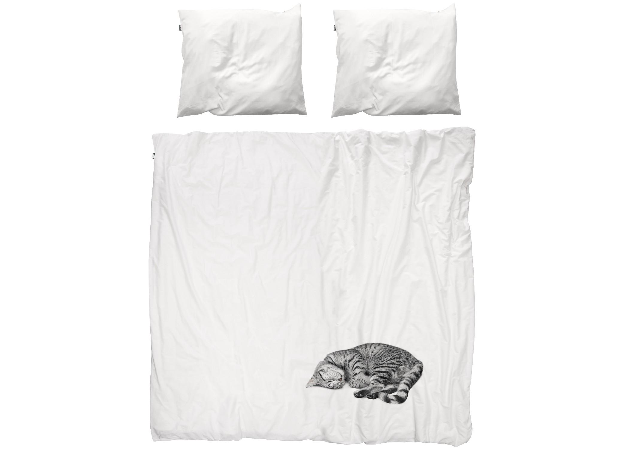 Комплект постельного белья Кошка ОллиДвуспальные комплекты постельного белья<br>Олли — игривый котенок, который любит детей. А еще Олли любит согревать вам местечко в постели. Но что делает Олли по-настоящему особенным, это то, что даже у людей, страдающих аллергией на кошек, нет с ним никаких проблем.&amp;amp;nbsp;&amp;lt;div&amp;gt;&amp;lt;br&amp;gt;&amp;lt;/div&amp;gt;&amp;lt;div&amp;gt;Материал: 100% хлопок ПЕРКАЛЬ (плотность ткани 214г/м2).&amp;amp;nbsp;&amp;lt;div&amp;gt;&amp;lt;span style=&amp;quot;line-height: 1.78571;&amp;quot;&amp;gt;В комплект входит: пододеяльник 200х220см - 1 шт, наволочка 50х70см - 2 шт.&amp;lt;/span&amp;gt;&amp;lt;br&amp;gt;&amp;lt;/div&amp;gt;&amp;lt;/div&amp;gt;<br><br>Material: Хлопок<br>Length см: 220<br>Width см: 200