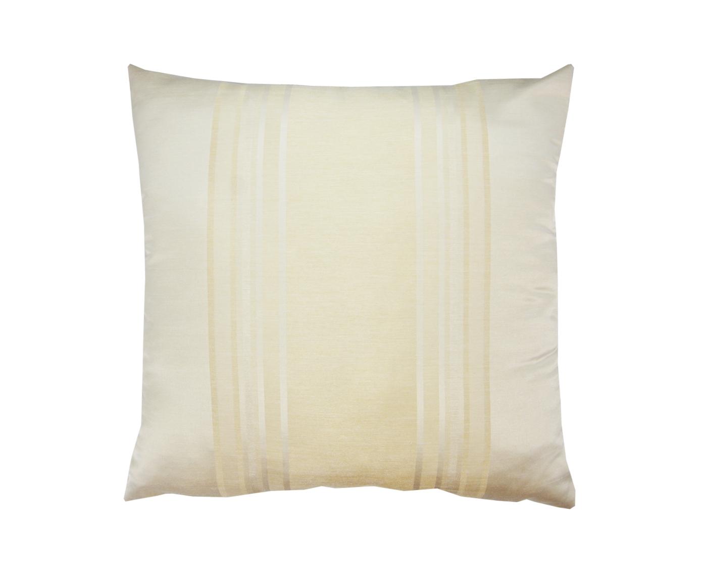 Подушка Сливочный-перламутрКвадратные подушки<br>Декоративная подушка, со съемным чехлом на молнии. Подушка с наполнителем халофайбер.<br><br>Material: Вискоза<br>Width см: 45<br>Depth см: 15<br>Height см: 45