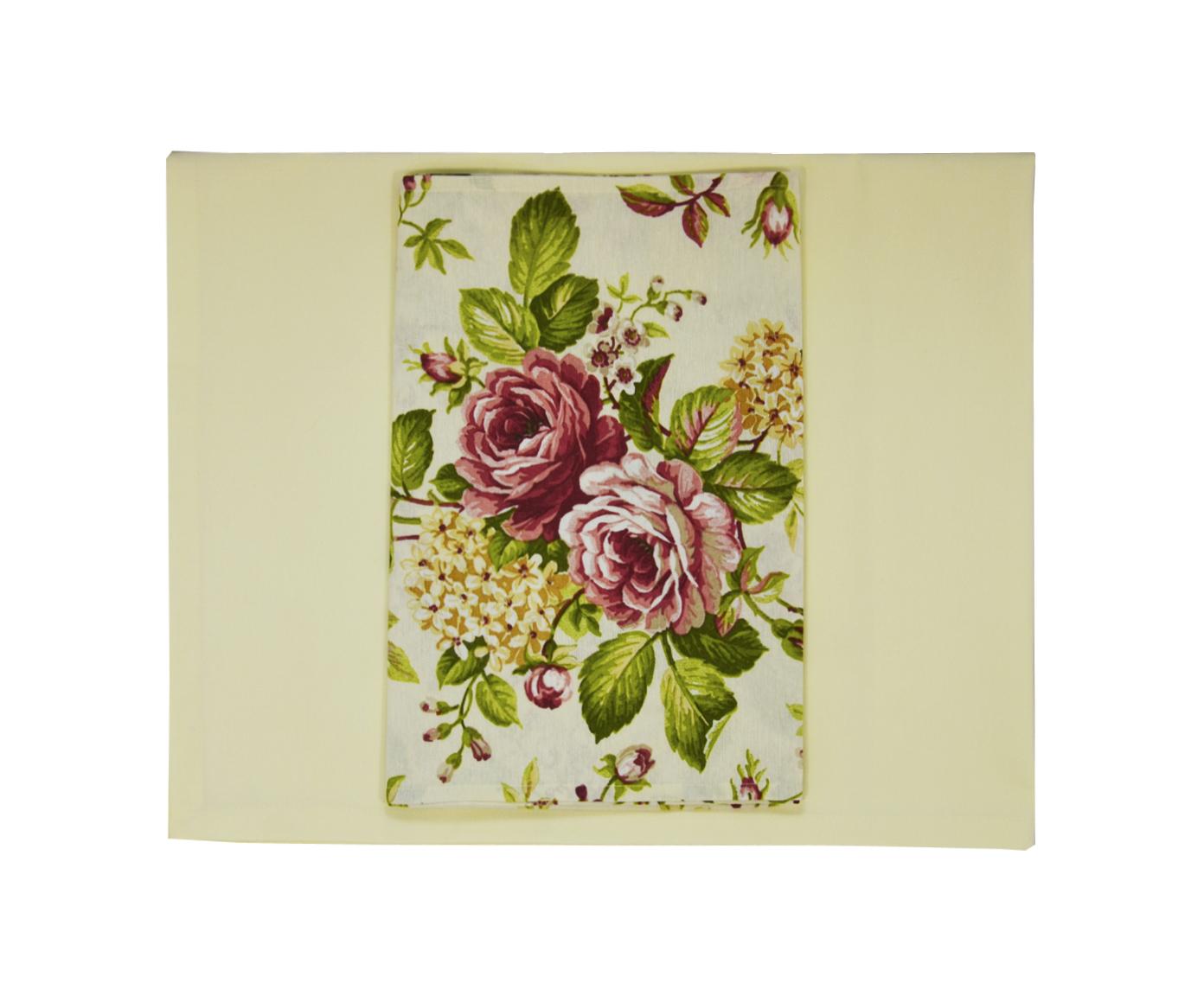 Комплект Rose redСкатерти<br>Столовый набор скатерть однотонная сливочная и дорожка цветы. Прекрасное дополнение для загородного дома.<br><br>Material: Хлопок<br>Length см: 180<br>Width см: 130