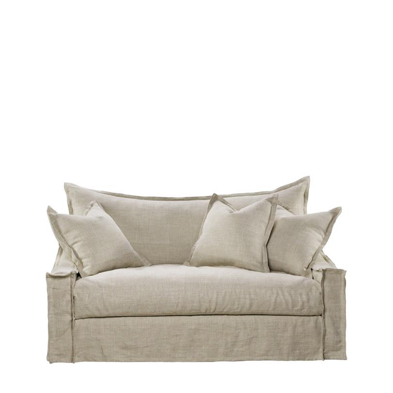 ДиванДвухместные диваны<br>Чистые и мягкие линии, непревзойденное удобство в традиционном бельгийском стиле. Три перьевые подушки завершают великолепный образ. Этот диван станет Вашим любимым местом для отдыха. Изготовлено из натуральных материалов исключительного качества отвечающего мировым нормам и стандартам экологически чистых материалов. Модель представлена в натуральном бельгийском льне бежевого цвета, Вы также можете выбрать обивку из коричневого льна.<br>Восьми-направленная пружинная подвеска ручной скрутки. Координационная спинка из полифайбера. Наполнитель – пух и перо.<br>Ножки изготовлены из патинированного ясеня.<br><br>Инструкция по уходу.<br>Регулярное очищение от пыли, поможет сохранить первозданный вид ткани. Избегайте попадания прямых солнечных лучей для предотвращения преждевременного выцветания. Пятна от пролившихся напитков сразу протереть мягкой белой тканью смоченной в дистиллированной воде.<br>Не используйте водопроводную воду или моющие средства для очистки загрязнений. Рекомендуем применять профессиональные средства для очистки тканей.<br><br>Material: Лен<br>Width см: 154<br>Depth см: 109<br>Height см: 80