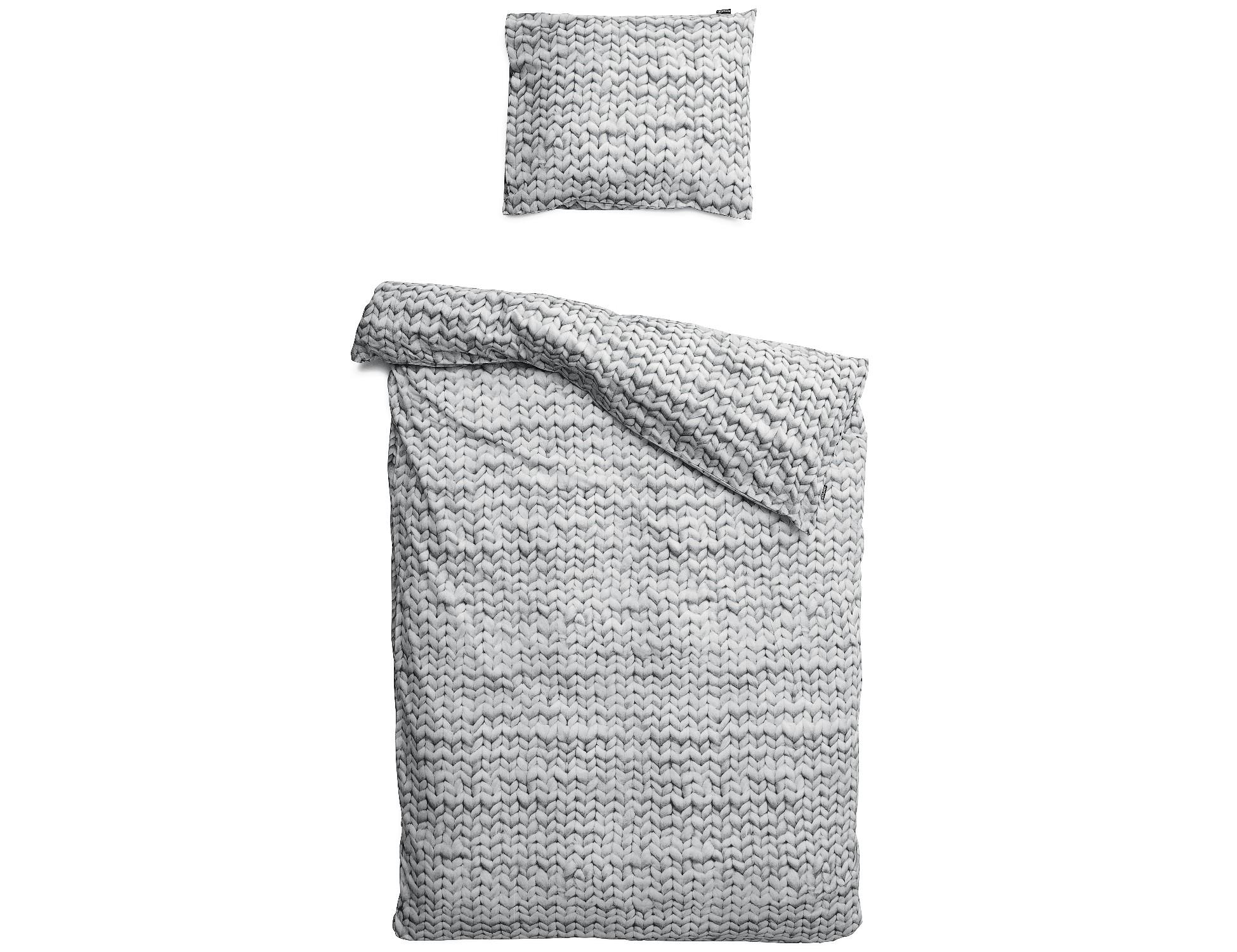 """Комплект постельного белья """"Косичка серый"""""""