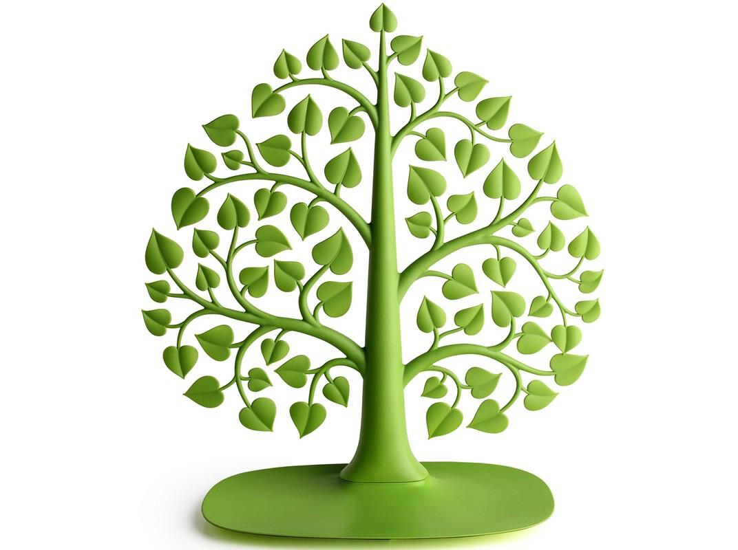 Дерево для украшений BodhiХранение украшений<br>Разве удобно каждый раз перетряхивать всю коробку с украшениями в поисках любимого кольца или подходящих наряду серёжек? Предлагаем новый подход к хранению украшений, пусть они растут на дереве. Да-да, самое настоящее (ну, почти!) дерево из пластика: просто поместите на его ветки кулоны, серьги, клипсы, браслеты - и находите их за три секунды. А тяжелые часы или массивные украшения можно сложить в поддон у основания органайзера.<br><br>Material: Пластик<br>Width см: 33<br>Depth см: 3<br>Height см: 34