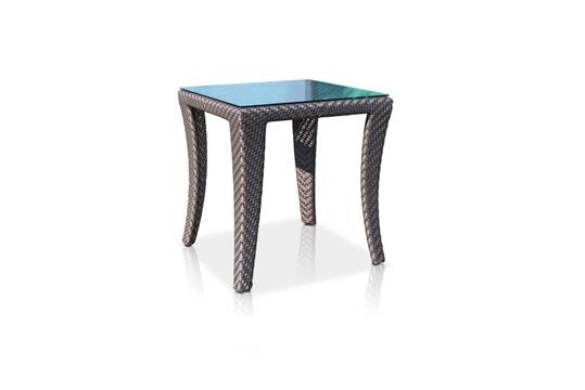 Приставной столикСтолы для улицы<br><br><br>Material: Ротанг<br>Width см: 51<br>Depth см: 51<br>Height см: 53