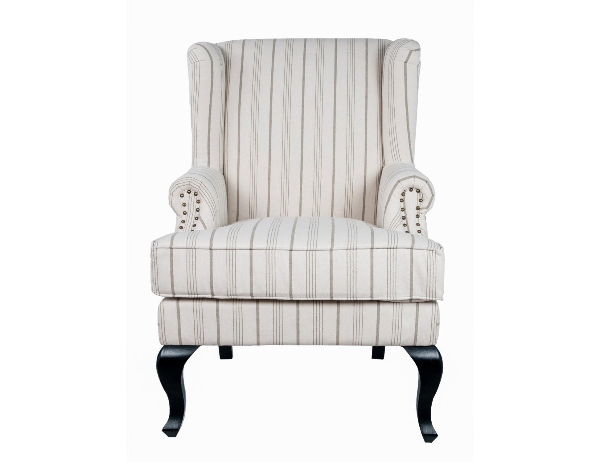 Кресло LekaloИнтерьерные кресла<br>Кресло Lekalo — типичный представитель классической традиционной мебели. Глубокое, удобное кресло с высокой спинкой и подлокотниками окутает вас комфортом и уютом.<br><br>Material: Лен<br>Width см: 77<br>Depth см: 75<br>Height см: 111
