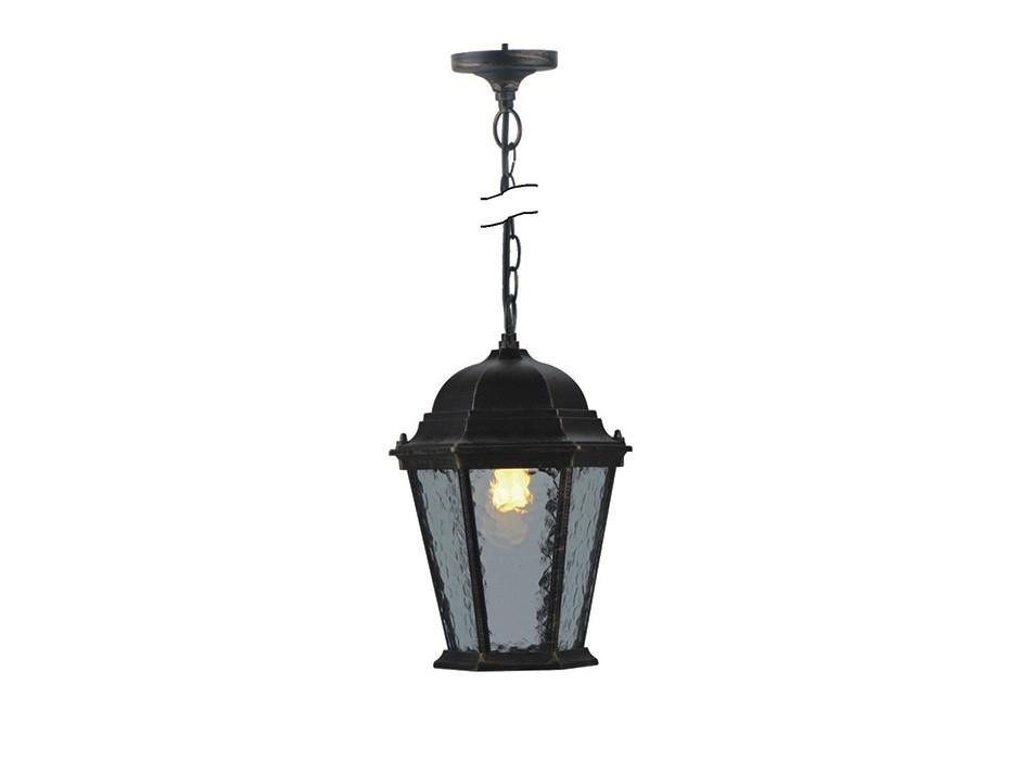 Уличный светильникУличные подвесные и потолочные светильники<br>Материалы: алюминий, стеклоВид цоколя: Е27Мощность ламп: 100WКоличество ламп: 1Наличие ламп: нет<br><br>kit: None<br>gender: None