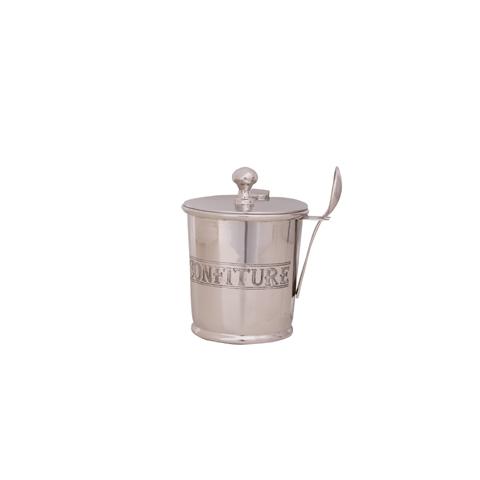 Емкость для меда и джемаЕмкости для хранения<br><br><br>Material: Никель<br>Height см: 12<br>Diameter см: 8
