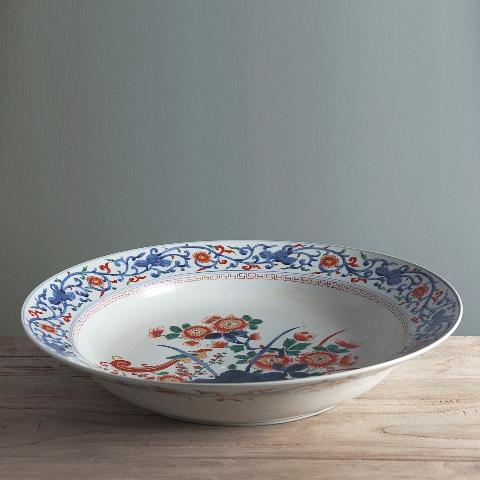 Декоративная тарелка ДельфтДекоративные тарелки<br>Большая декоративная тарелка из керамики от голландских дизайнеров марки «Roomers». Отличный элемент украшения интерьера в стиле кантри или прованс.<br><br>Material: Керамика<br>Height см: 10<br>Diameter см: 70