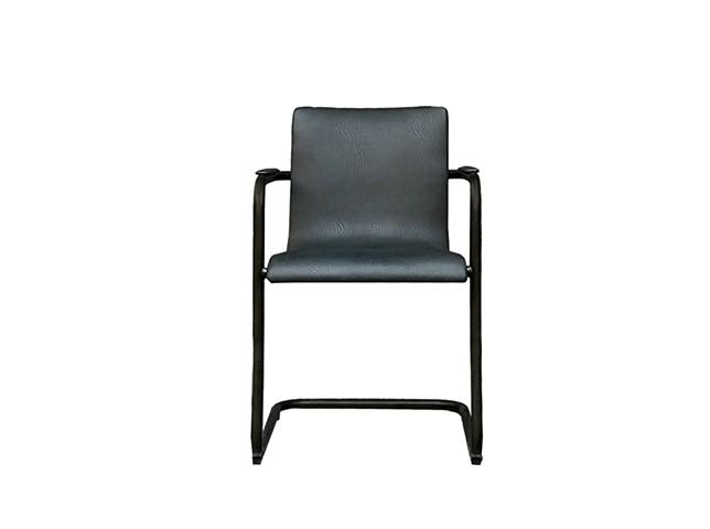 Стул ТампереСтулья с подлокотниками<br>Оригинальный стул с подлокотниками для интерьера кабинета или гостиной в стиле кантри. Металлический плавный каркас обит натуральным кожаным сиденьем кофейного цвета с перламутровым блеском.<br><br>Материал: металл, кожа<br><br>Material: Кожа<br>Length см: 55.0<br>Width см: 50.0<br>Depth см: None<br>Height см: 82.0<br>Diameter см: None