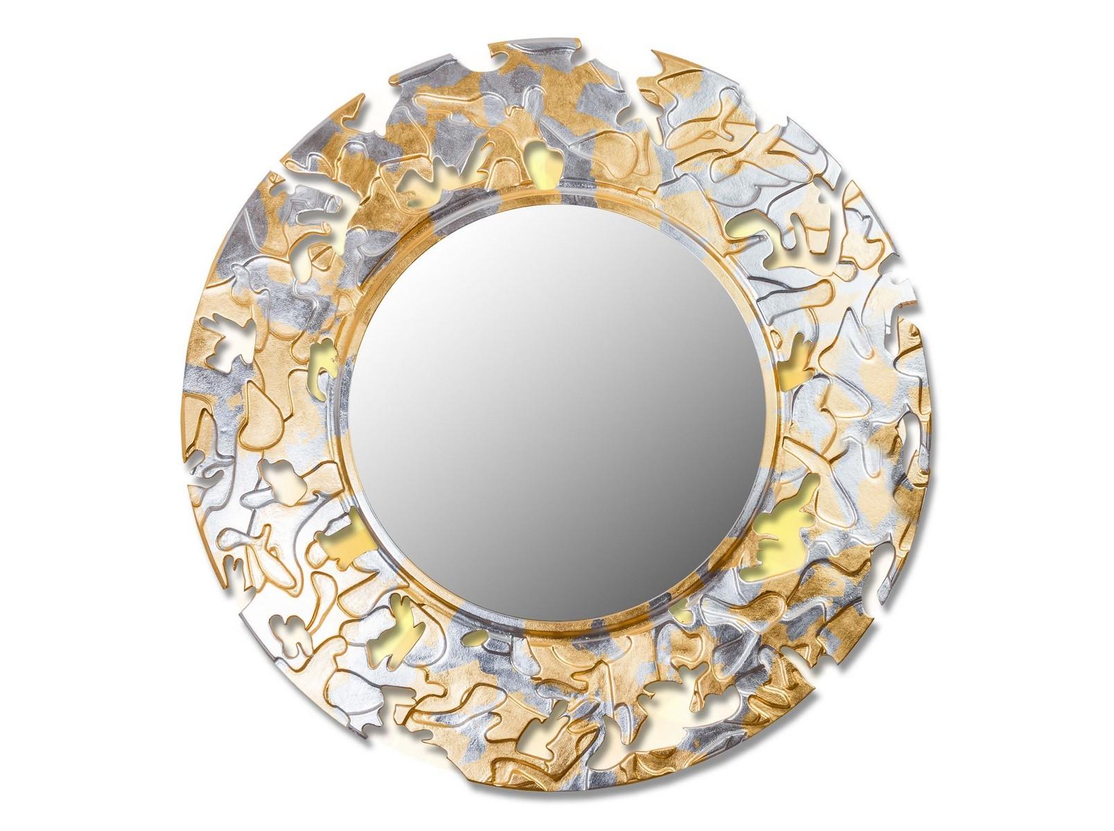 Зеркало CAMOUFLAGEНастенные зеркала<br>Данный вариант представлен в круглой форме, цвет: золото и серебро.&amp;lt;div&amp;gt;&amp;lt;br&amp;gt;&amp;lt;/div&amp;gt;&amp;lt;div&amp;gt;&amp;lt;p class=&amp;quot;MsoNormal&amp;quot;&amp;gt;Товарное предложение оснащено светодиодной подсветкой.&amp;lt;o:p&amp;gt;&amp;lt;/o:p&amp;gt;&amp;lt;/p&amp;gt;&amp;lt;/div&amp;gt;<br><br>Material: Дерево<br>Depth см: 0,8<br>Diameter см: 90