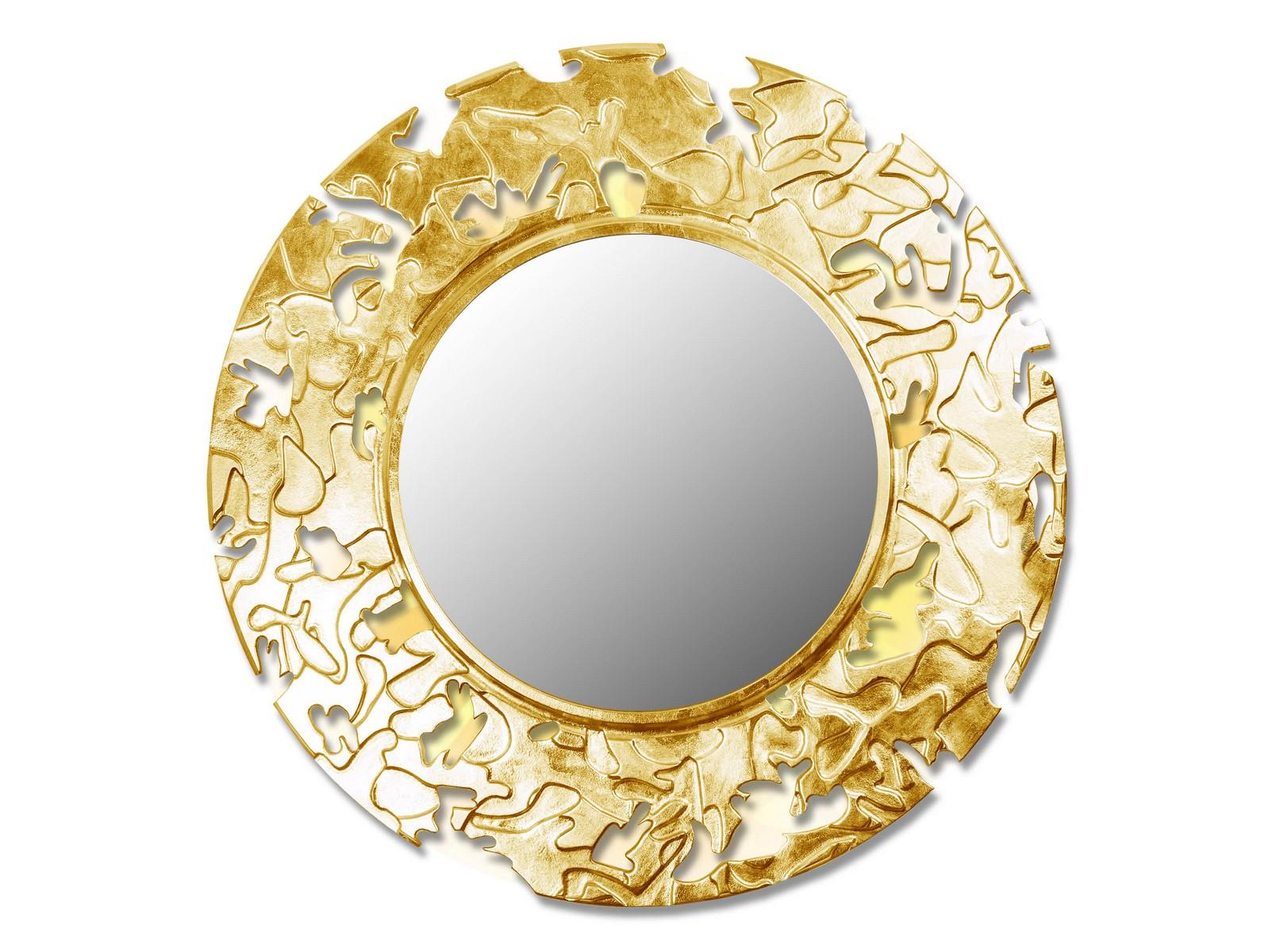 Зеркало CAMOUFLAGEНастенные зеркала<br>Данный вариант представлен в круглой форме<br><br>Material: Дерево<br>Depth см: 0,8<br>Diameter см: 90