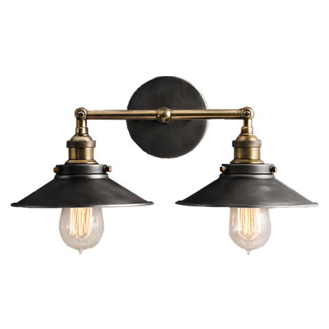 СВЕТИЛЬНИК SCONCE DOUBLEБра<br>Устраивайтесь на диване поудобнее – светильник-бра на две лампы &amp;quot;SCONCE DOUBLE&amp;quot; подарит вам мягкий свет и сделает зону отдыха очень уютной. Классический дизайн с широкими плоскими плафонами – и неожиданное исполнение бра из металла золотистого и стального цвета. Такой светильник органично впишется как в &amp;amp;nbsp;интерьер в английском стиле, так и в современный хай-тек.<br><br>Material: Металл<br>Length см: 23<br>Width см: 38<br>Height см: 16 ,5