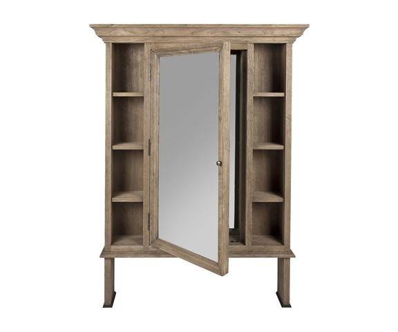 Зеркало ХугоСтеллажи и этажерки<br>&amp;quot;Хуго&amp;quot; ? интересное зеркало, которое выполняет не только свою основную функцию. Окруженное ящичками по периметру, оно также служит дополнительным местом для хранения вещей. Натуральная древесина естественного цвета придает напольному зеркалу романтичный вид. Она делает его идеально подходящим для холла, гардероба или ванной в стиле кантри.<br><br>Material: Дерево<br>Length см: 100<br>Width см: None<br>Depth см: 22<br>Height см: 132<br>Diameter см: None