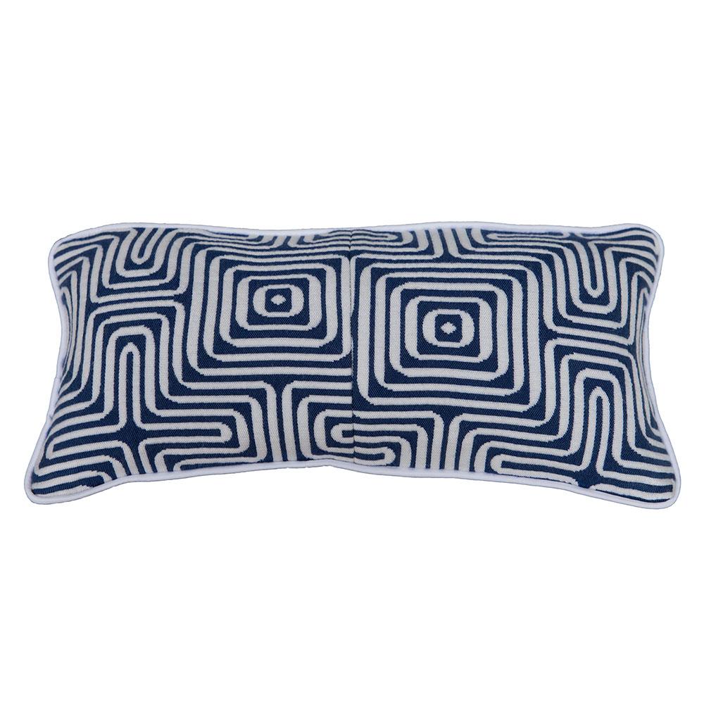 Подушка декоративная RamondПрямоугольные подушки<br>Элегантная подушка в сине-белой гамме с дизайном &amp;quot;лабиринт&amp;quot; станет прекрасными акцентом в интерьере и подчеркнет стиль Вашего дома.&amp;lt;div&amp;gt;&amp;lt;br&amp;gt;&amp;lt;/div&amp;gt;&amp;lt;div&amp;gt;Материал: 90% хлопок/10% полиэстер.&amp;lt;br&amp;gt;&amp;lt;/div&amp;gt;<br><br>Material: Хлопок<br>Width см: 40<br>Depth см: 10<br>Height см: 20