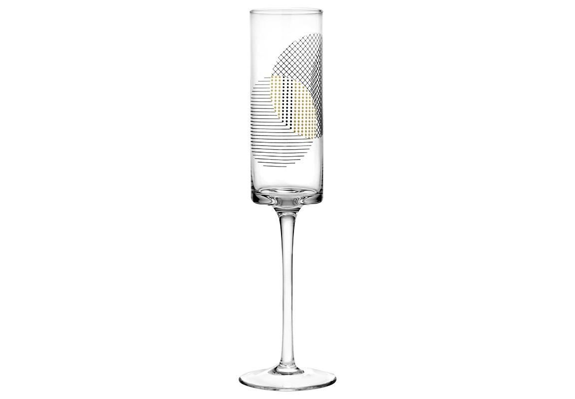 Бокал для шампанского SOCIETY (4 шт)Бокалы<br>Объём: 230 мл.<br><br>Material: Стекло