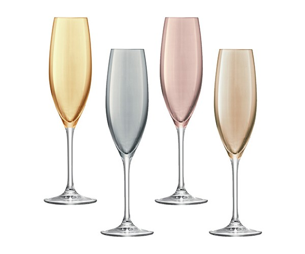 Бокал для шампанского POLKA (4 шт.)Бокалы<br>Объём: 225 мл.<br><br>Material: Стекло