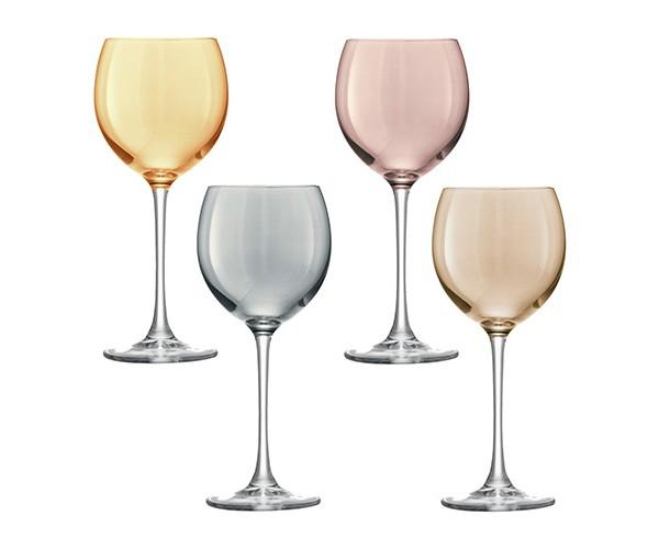 Бокал для вина POLKA (4 шт.)Бокалы<br>Объём: 400 мл.<br><br>Material: Стекло