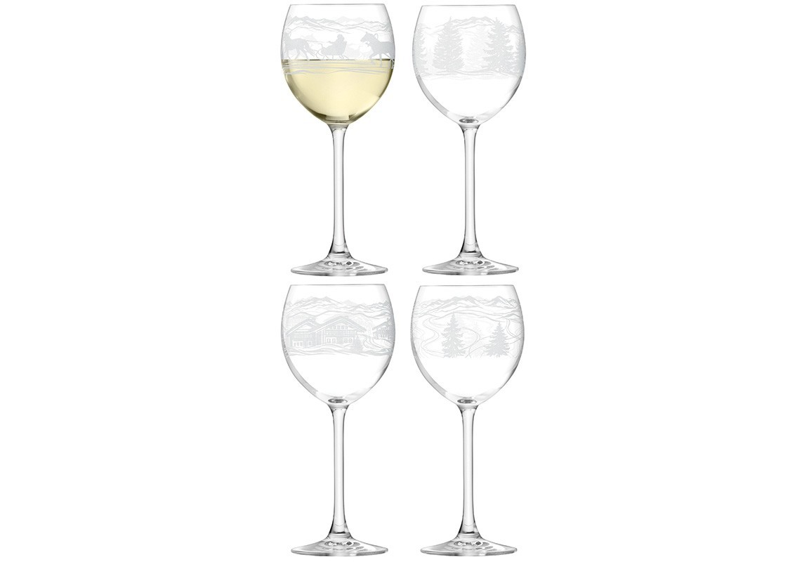 Бокал для вина TIROL (4 шт)Объём: 400 мл.<br><br>Material: Стекло<br>Высота см: 20