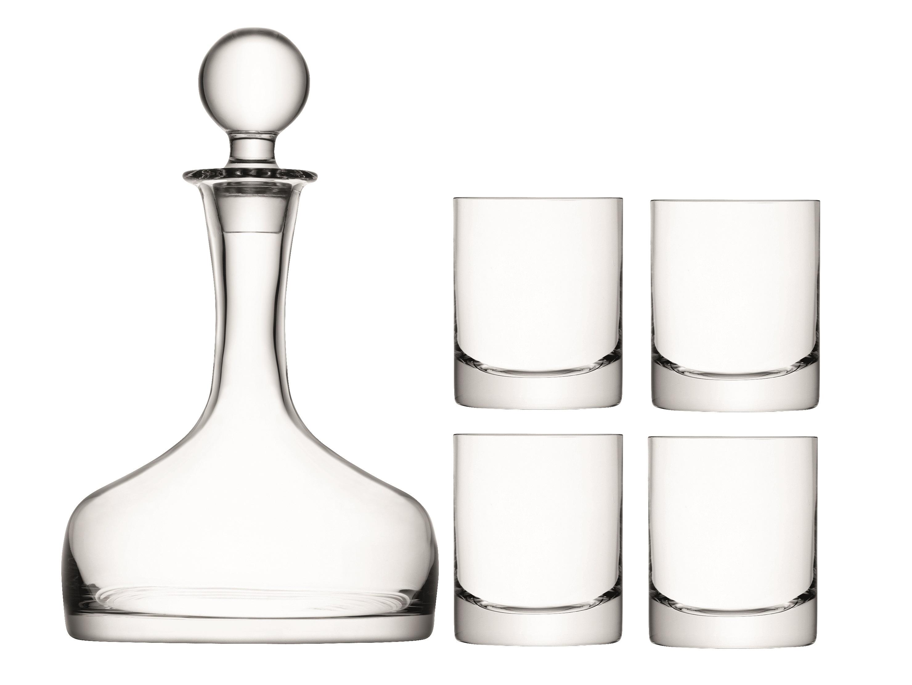 """Набор для виски """"BAR"""" (4 бокала, декантер)"""