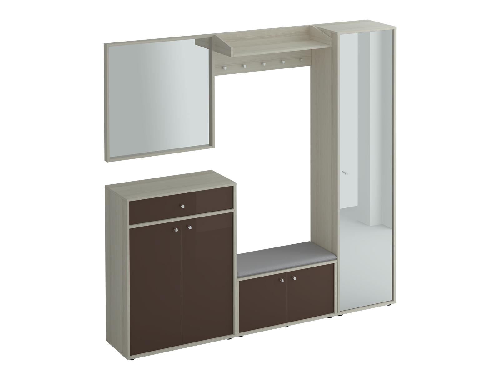 Композиция LatteКомплекты мебели<br>Композиция для прихожей.<br><br>Material: ДСП<br>Width см: 194<br>Depth см: 38<br>Height см: 191