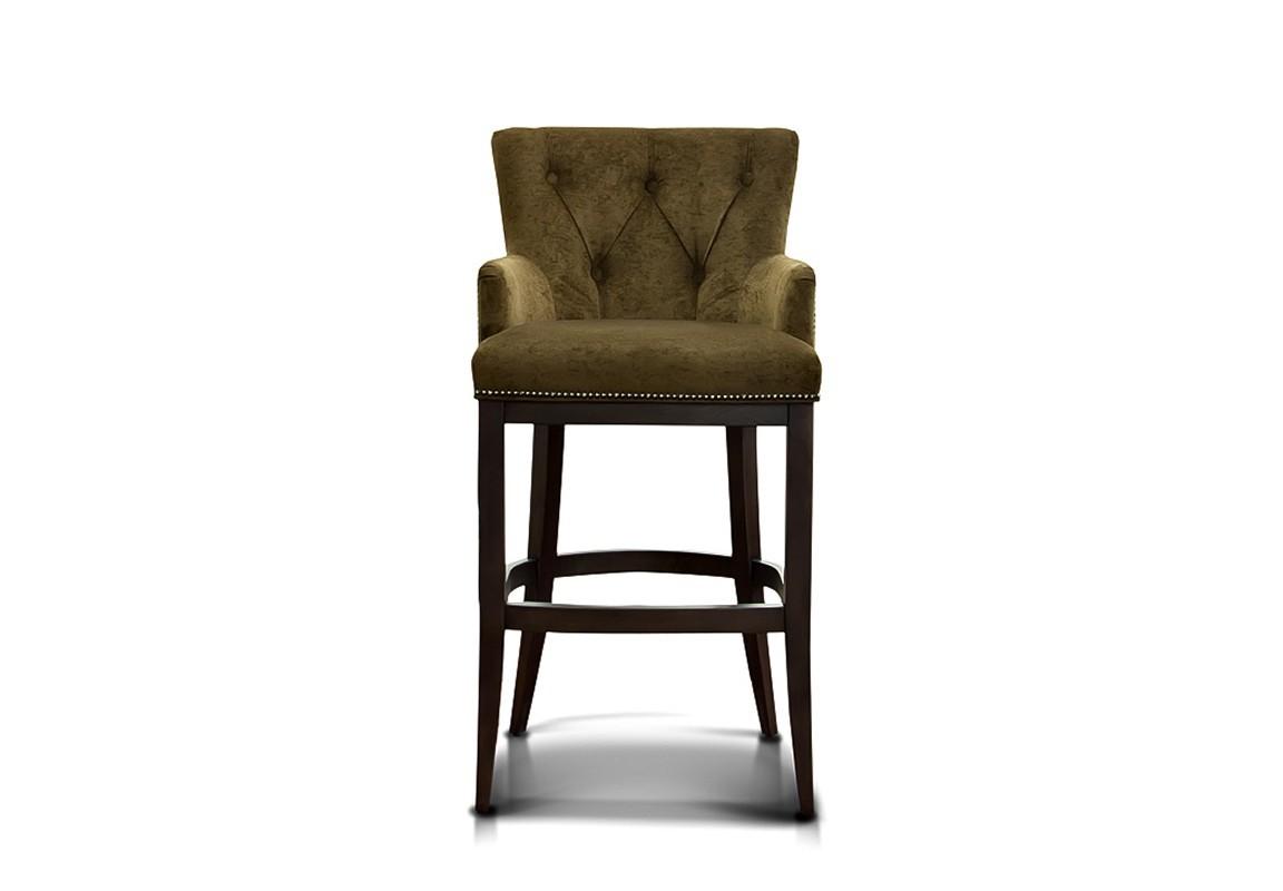 Барный стул VictorБарные стулья<br>Каркас: фанера, брус хвойных парод, резино-тканевые ремни, термовойлок, ППУ&amp;quot;HR,HL,ST&amp;quot;, опоры массив.<br><br>Material: Текстиль<br>Width см: 58<br>Depth см: 57<br>Height см: 112