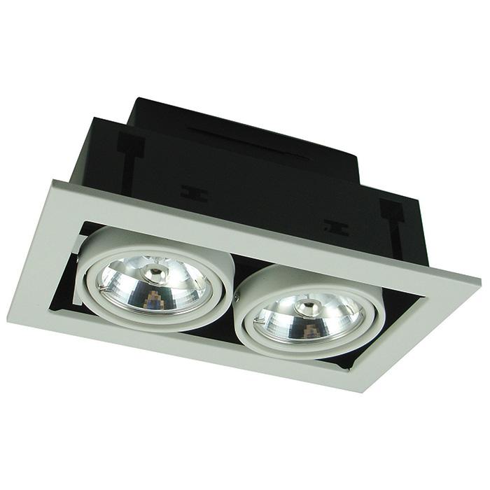 Потолочный светильникТочечный свет<br>&amp;lt;div&amp;gt;Тип цоколя: G5.3&amp;lt;/div&amp;gt;&amp;lt;div&amp;gt;Мощность лампы: 50&amp;lt;/div&amp;gt;&amp;lt;div&amp;gt;Количество ламп: 2&amp;lt;/div&amp;gt;<br><br>Material: Металл<br>Ширина см: 25<br>Высота см: 12<br>Глубина см: 14