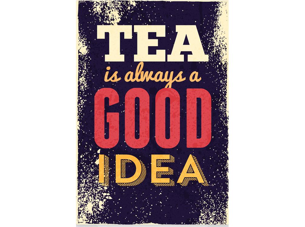 Постер Tea is alwaus a good idea Размер A2Постеры<br>Чай - это всегда хорошая идея  .<br>Если замерз в осенний вечер, нет настроения или просто выдалась свободная минутка - выпей чаю. Чай - это всегда хорошая идея.<br>Не знаешь с чего начать разговор - предложи чаю. Не знаешь как скоротать время - выпей чаю. Не знаешь, что подарить? Подари чай!<br>Утром и вечером, в обед и к завтраку - чашечка горячего бодрящего чая никогда не будет лишней.<br>А постер   Tea is alwaus a good idea   тем более придется по вкусу любому интерьеру.<br><br>Material: Бумага<br>Width см: 42<br>Height см: 59