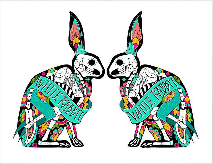 Картина White rabbitКартины<br>Белый кролик   считается символом чистоты и нежности. Символом непорочности и честности. <br>Но эти кролики не имеют с ними ничего общего!<br>Дерзкие, неординарные, бросающие вызов любителям стандартов и пушистого меха. Эти кролики не похожи ни на кого! <br>Сделанные из костей и цветов, в стиле эскиза для татуировки, они не только украсят Ваш интерьер, но и придадут ему креативный, оригинальный стиль.<br>Картина   White rabbit   прекрасно подойдет для тех, кто увлекается татуировкой и просто любит нестандартные решения. Повесьте её у себя дома или в тату-салоне и считайте восторженные взгляды своих гостей!<br><br>Material: Холст<br>Width см: 50<br>Depth см: None<br>Height см: 70