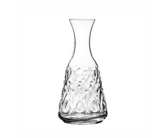 ГрафинКувшины и графины<br>Стекольная фабрика la Rochere (Франция) основана в 1475 году сегодня является старейшим действующим стекольным предприятием Франции и, безусловно, одним из старейших в мире. Особая техника выдувания стекла хранилась в строжайшей тайне и вместе со званием «стекольного дворянина» передавалась владельцем la Rochere из поколения в поколение законному наследнику. И в наши дни работник, поступающий на фабрику la Rochere, принимает торжественную присягу, обязуясь не разглашать секреты стекла la Rochere. Ассортимент выпускаемой сегодня продукции очень широк и включает: посуду и декоративные изделия из прессованного и выдувного стекла: стаканы, подсвечники, салатницы, креманки, графины и тарелки. Изящные изделия художников la Rochere привлекут внимание знатоков и ценителей французского стиля Арт Нуво. Стекло безупречных форм внесет изысканность и аристократизм в Ваш интерьер и привнесет частичку Франции в окружающую Вас действительность. La Rochere отличается особой декоративностью. Эти стеклянные приборы станут отличным дополнением стильной сервировки в частной жизни и заведениях.&amp;lt;div&amp;gt;&amp;lt;br&amp;gt;&amp;lt;/div&amp;gt;&amp;lt;div&amp;gt;Объем: 750 мл.&amp;lt;br&amp;gt;&amp;lt;/div&amp;gt;&amp;lt;div&amp;gt;&amp;lt;br&amp;gt;&amp;lt;/div&amp;gt;<br><br>Material: Стекло