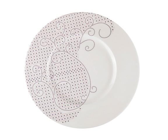 ТарелкаТарелки<br>MIKASA по праву считается одним из мировых лидеров по производству столовой посуды из фарфора и керамики. На протяжении более полувека категории качества и дизайна являются неотъемлемой частью бренда MIKASA. Сегодня MIKASA сотрудничает со многими известными дизайнерами, работающими для лучших фабрик мира, и использует самые передовые технологии в производстве посуды. Все продукты бренда  MIKASA безупречны с точки зрения дизайна и исполнения. Благодаря огромному стилистическому разнообразию каждый может выбрать для себя подходящую коллекцию. Несмотря на впечатляющее число конкурентов в области производства столовой посуды, компания MIKASA уже много лет находится в верхних строках списков лидеров мирового масштаба. Изготовленная под именем марки посуда представляет собой безукоризненное совершенство дизайна, сочетаемое с безупречным качеством.<br><br>Material: Фарфор<br>Diameter см: 31