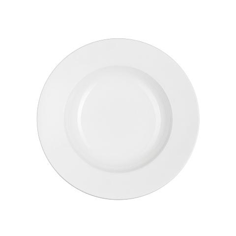 Тарелка глубокаяТарелки<br>Фарфоровая посуда бренда Chef&amp;amp;amp;Sommelier (Франция) - новинка от компании ARC Int. на российском рынке. Она предназначена для заведений высокой ценовой категории, ресторанов Fine Dining, отелей премиум - класса. Посуда изготавливается по уникальной технологии из фарфора Maxima. Это запатентованный материал, отличающийся повышенной механической прочностью. имеющий нежный молочный оттенок. В концепцию дизайна заложена мировая тенденция на смешение стилей, форм и материалов. Поверхность изделий украшена&amp;amp;nbsp;&amp;lt;span style=&amp;quot;line-height: 24.9999px;&amp;quot;&amp;gt;оригинальным тиснением и сочетанием глянцевой и матовой глазури, которую наносят по особой технологии Mat&amp;amp;amp;Shiny. Комбинация различных предметов этих коллекций позволяет создавать необыкновенные дизайн сервировки стола.&amp;lt;/span&amp;gt;<br><br>Material: Фарфор<br>Diameter см: 25