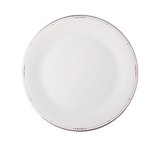 Тарелка обеденнаяТарелки<br>MIKASA по праву считается одним из мировых лидеров по производству столовой посуды из фарфора и керамики. На протяжении более полувека категории качества и дизайна являются неотъемлемой частью бренда MIKASA. Сегодня MIKASA сотрудничает со многими известными дизайнерами, работающими для лучших фабрик мира, и использует самые передовые технологии в производстве посуды. Все продукты бренда  MIKASA безупречны с точки зрения дизайна и исполнения. Благодаря огромному стилистическому разнообразию каждый может выбрать для себя подходящую коллекцию. Несмотря на впечатляющее число конкурентов в области производства столовой посуды, компания MIKASA уже много лет находится в верхних строках списков лидеров мирового масштаба. Изготовленная под именем марки посуда представляет собой безукоризненное совершенство дизайна, сочетаемое с безупречным качеством.<br><br>Material: Фарфор