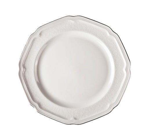 Тарелка обеденнаяТарелки<br>MIKASA по праву считается одним из мировых лидеров по производству столовой посуды из фарфора и керамики. На протяжении более полувека категории качества и дизайна являются неотъемлемой частью бренда MIKASA. Сегодня MIKASA сотрудничает со многими известными дизайнерами, работающими для лучших фабрик мира, и использует самые передовые технологии в производстве посуды. Все продукты бренда  MIKASA безупречны с точки зрения дизайна и исполнения. Благодаря огромному стилистическому разнообразию каждый может выбрать для себя подходящую коллекцию. Несмотря на впечатляющее число конкурентов в области производства столовой посуды, компания MIKASA уже много лет находится в верхних строках списков лидеров мирового масштаба. Изготовленная под именем марки посуда представляет собой безукоризненное совершенство дизайна, сочетаемое с безупречным качеством.<br><br>Material: Фарфор<br>Diameter см: 27