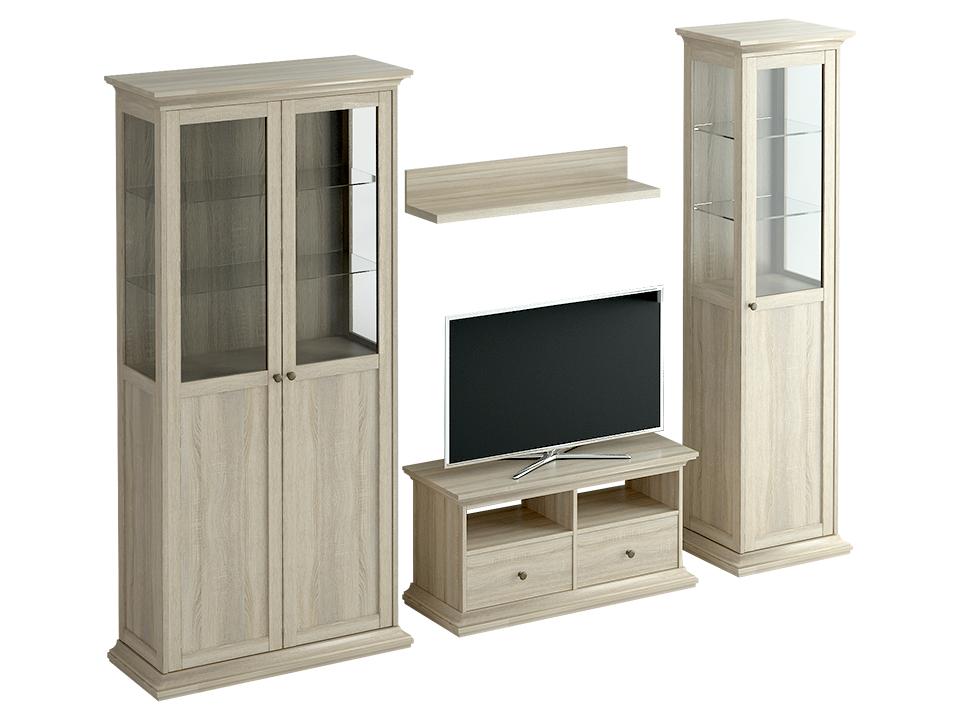 Композиция ReinaКомплекты мебели<br>Композиция для гостиной Reina - это современная классика: модульная комплектация, организация мест хранения и размещения бытовой техники, делают ее абсолютно комфортной для жизни современного человека.<br><br>Material: ДСП<br>Width см: 254<br>Depth см: 42<br>Height см: 201
