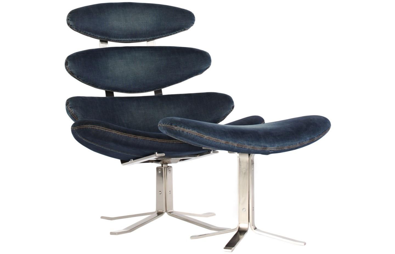 Кресло Blue JeansИнтерьерные кресла<br>Если немного пофантазировать и посмотреть на такое кресло как бы с высоты птичьего полета - оно походит на росссыпь островов в тихом океане. Эфемерное, легкое - оно так и манит посидеть в нем и помечтать. А ноги можно закинуть на маленькую джинсовую табуретку.<br><br>Material: Текстиль<br>Length см: None<br>Width см: 85<br>Depth см: 50<br>Height см: 90