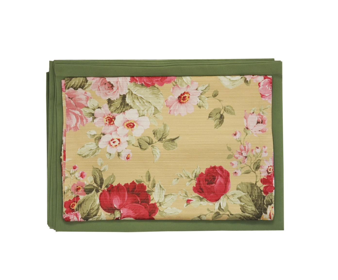Комплект Розовый букет скатерть и дорожкаСкатерти<br><br><br>Material: Вискоза<br>Length см: 180<br>Width см: 130