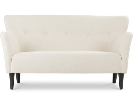 Двухместный диван бристоль s (vysotkahome) белый 150x81x84 см.