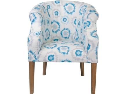 Кресло laela deep (mak-interior) голубой 63x68x86 см.