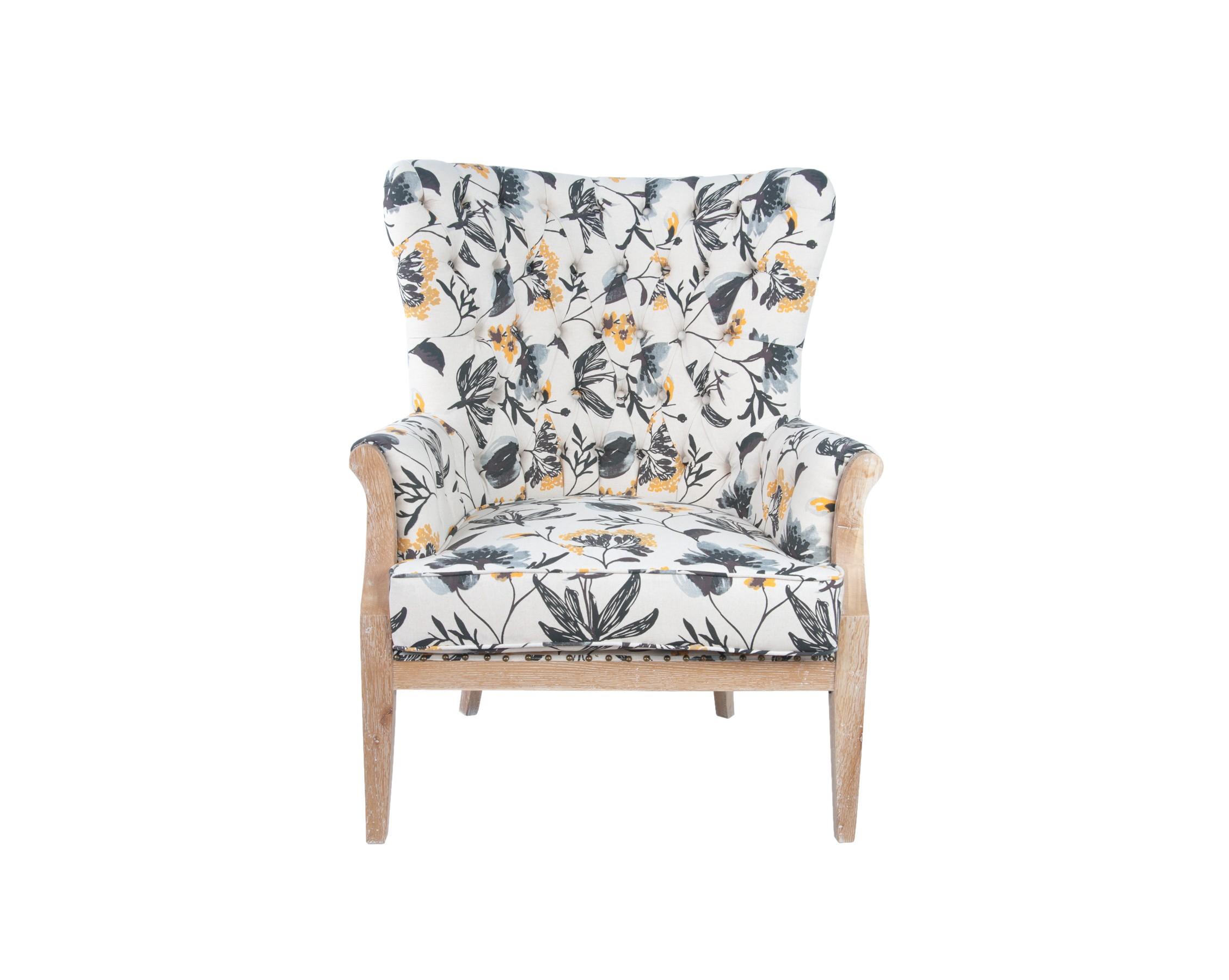 Кресло DelaineКресла с высокой спинкой<br>Каркас кресла Delaine выполнен из масива дуба. Кресло выглядит утонченно и изысканно. В отделке использованы каретная стяжка, пуговицы. Это поистине уютное кресло займет достойное место в Вашей повседневной жизни.&amp;amp;nbsp;<br><br>Material: Лен<br>Width см: 89<br>Depth см: 79<br>Height см: 112
