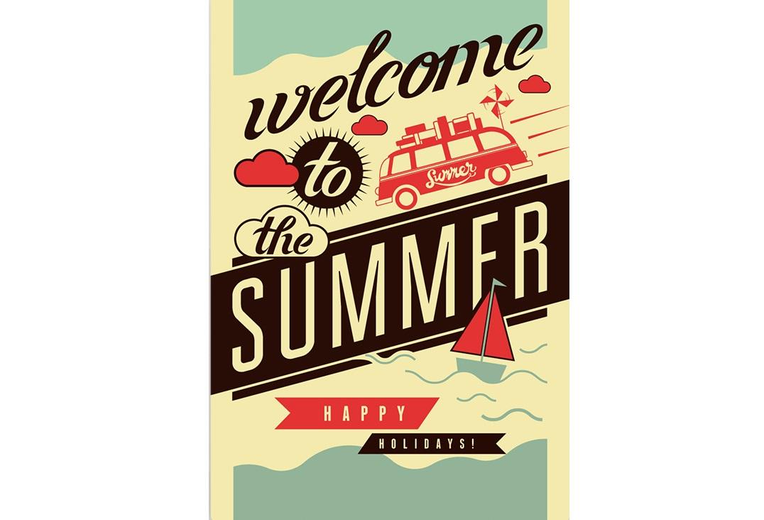 Постер Welcome to the summerПостеры<br>Welcome to the summer. Happy holydays   -   Добро пожаловать в лето. Счастливых праздников  . <br>Как жаль, что лето пролетает так быстро! Летом так хочется есть мороженое, кататься на велосипеде, купаться, играть в волейбол, загорать и устраивать пикники на свежем воздухе. Летом всё становится прекраснее, дни тянуться дольше, ночь сопровождается ярким сиянием звезд, а теплый ветер ласкает остывающую землю. В воздухе витает непередаваемый запах свежескошенной травы и цветущих деревьев. Вот бы лето не кончалось никогда!<br>С постером   Welcome to the summer   в Вашем доме всегда будет частичка лета, которая поднимет настроение и согреет словно летнее солнце.<br><br>Material: Бумага<br>Width см: 59<br>Height см: 84