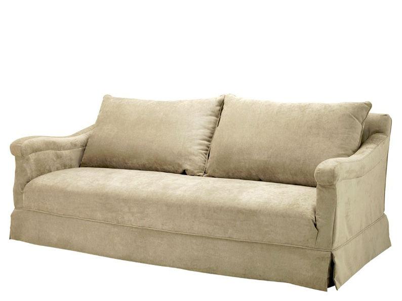 Диван CedricТрехместные диваны<br>Диван Sofa Cedric обтянут тканью бежевого цвета. Мягкие подушки под спину.<br><br>Material: Текстиль<br>Width см: 217<br>Depth см: 111<br>Height см: 88