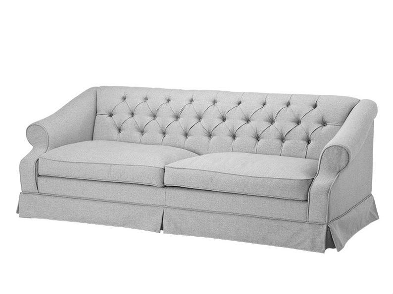 Диван AldridgeТрехместные диваны<br>Классический дизайн в новом прочтении! От классики у этого дивана изящные изогнутые подлокотники, стяжка капитоне на спинке и элегантная &amp;quot;&amp;quot;кулиса&amp;quot;&amp;quot;, но вот ткань, из которой сделан диван - настоящий элегантный твид Такое необычное сочетание освежит классический интерьер.<br><br>Material: Текстиль<br>Ширина см: 210<br>Высота см: 79<br>Глубина см: 93