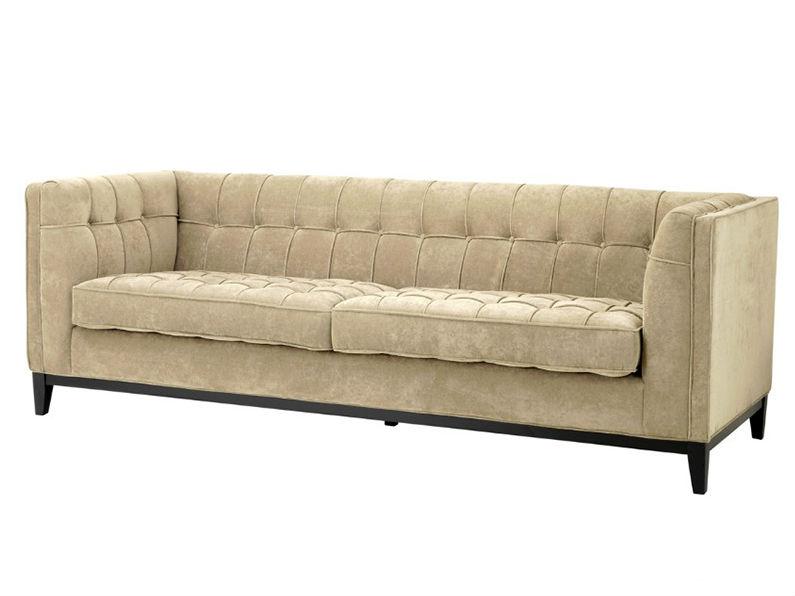 ДиванТрехместные диваны<br>&amp;lt;div&amp;gt;Не можете найти диван, который будет достоин вас? Этот благородный диван просто создан для самых требовательных натур. Высокие деревянные ножки, стяжка капитоне и элегантная бежевая обивка прекрасно впишутся в американский буржуазный стиль и сделают интерьер изысканнее, а подлокотники, выполненные на одном уровне со спинкой - интересная деталь, добавляющая уюта вашему отдыху.&amp;lt;br&amp;gt;&amp;lt;/div&amp;gt;<br><br>Material: Текстиль<br>Ширина см: 230<br>Высота см: 77<br>Глубина см: 81