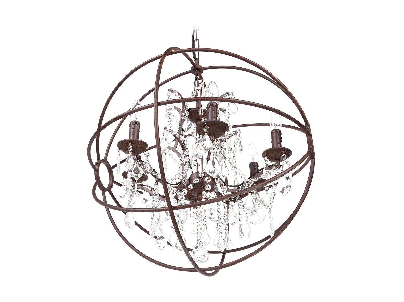 Люстра SvonchetЛюстры подвесные<br>Дизайнерская люстра Svonchet призвана не только освещать интерьерное пространство, но и восхищать обитателей этого пространства. Ещё бы! Шикарная люстра в классическом стиле облачена в металлический каркас, образующий сферу. Внутри сферы размещены хрустальные подвески, создающие оригинальную игру света. Вся эта композиция непременно заворожит и вдохновит даже самого взыскательного ценителя прекрасного.&amp;lt;div&amp;gt;&amp;lt;br&amp;gt;&amp;lt;/div&amp;gt;&amp;lt;div&amp;gt;&amp;lt;div&amp;gt;Вид цоколя: Е14&amp;lt;/div&amp;gt;&amp;lt;div&amp;gt;Мощность лампы: 40W&amp;lt;/div&amp;gt;&amp;lt;div&amp;gt;Количество ламп: 6&amp;lt;/div&amp;gt;&amp;lt;div&amp;gt;Наличие ламп: нет&amp;lt;/div&amp;gt;&amp;lt;/div&amp;gt;<br><br>Material: Металл<br>Height см: 73<br>Diameter см: 66