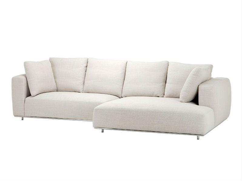 ДиванУгловые диваны<br>Угловой диван Sofa Colorado Lounge на ножках из нержавеющей стали. Диван обтянут тканью молочного цвета. Мягкие подушки под спину.<br><br>Material: Текстиль<br>Width см: 308<br>Depth см: 153<br>Height см: 88